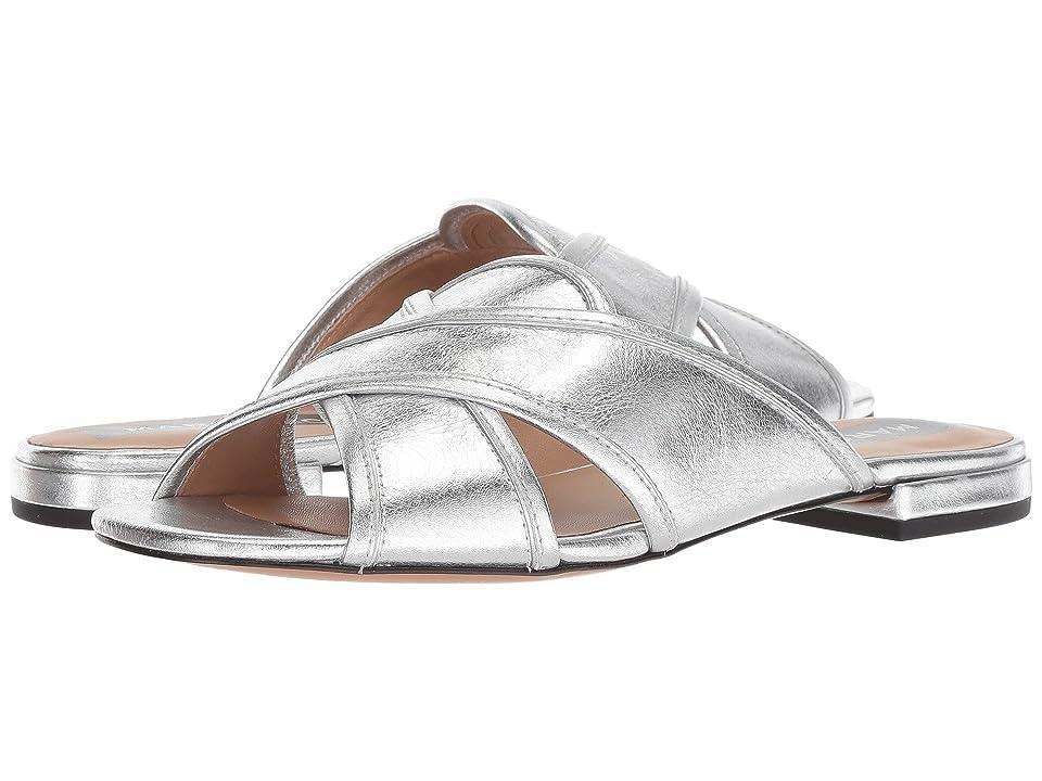 Marc Jacobs Aurora Flat Sandal (Silver) Women