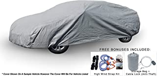 Weatherproof Car Cover Compatible With Audi RS5 2010-2019 - 5L Outdoor & Indoor - Protect From Rain, Snow, Hail, UV Rays, Sun & More - Fleece Lining - Includes Anti-Theft Cable Lock, Bag & Wind Straps