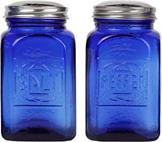 Trenton Gifts Depression Style Glass Salt & Pepper Shakers | Cobalt Blue