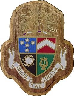 Delta Tau Delta Double Raised Wood Crest 3.5