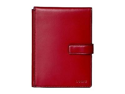 Lodis Accessories Audrey RFID Flip Ticket/Passport Wallet (Red RFID) Bi-fold Wallet