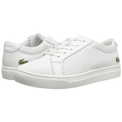 Lacoste Kids L.12.12 (Little Kid) (White) Kids Shoes