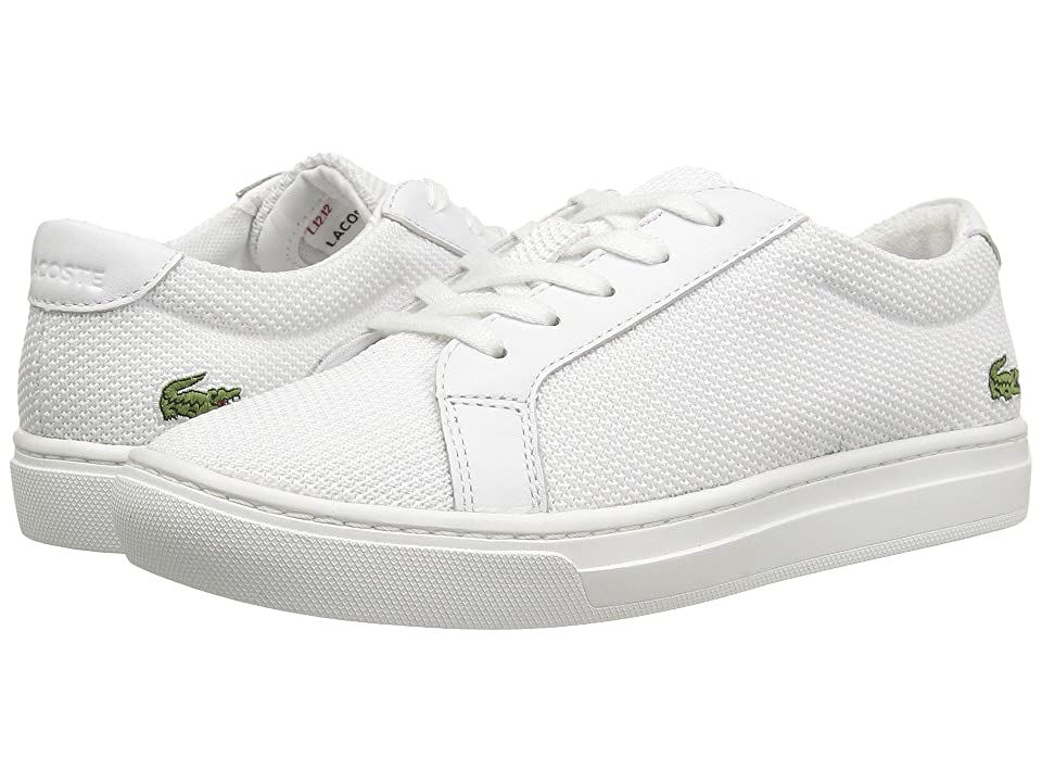 Lacoste Kids L.12.12 (Little Kid) (White) Kids Shoes