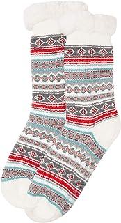 Pack de 2 pares de calcetines para mujer con forro polar en 3 combinaciones de colores