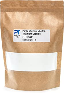 Titanium Dioxide | Cosmetic Grade | Soap Making, Crafts, Paints and Pigment Colorant | Resealable Pouch | PTR-630 (16 oz)