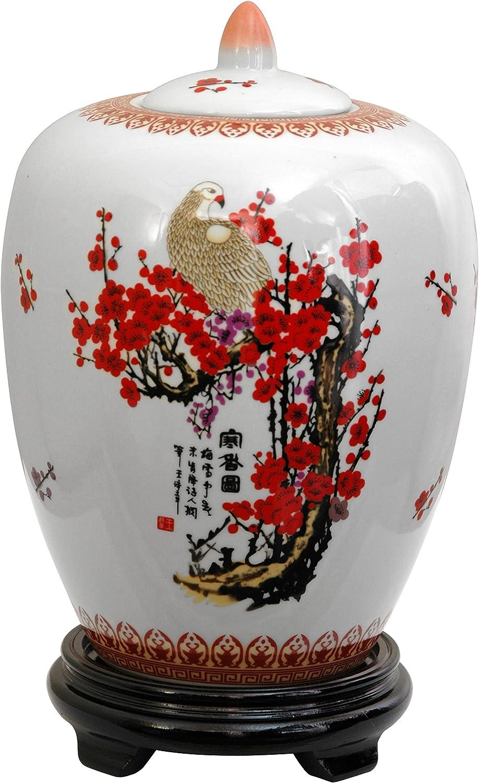 Oriental Furniture 11  Cherry Blossom Porcelain Vase Jar