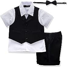 boy tuxedo short set