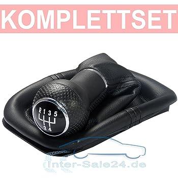 Skoda Fabia I 6Y Knauf Gear Schaltsack Schaltmanschette mit Blau N/ähten