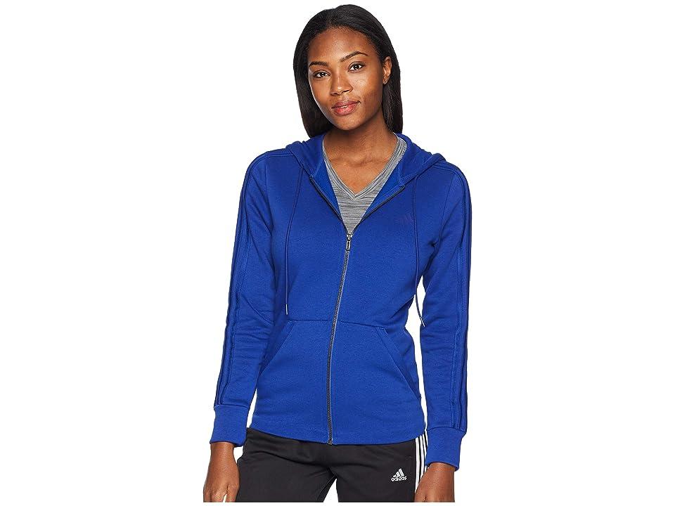 adidas Essentials Cotton Fleece 3S Full Zip Hoodie (Mystery Ink/Mystery Ink/Mystery Ink) Women