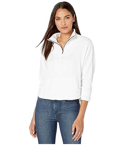 LAmade Bello Plush Modal Cotton Fleece 1/2 Zip Sweatshirt (White) Women