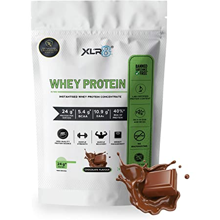 XLR8 Whey Protein with 24 g protein, 5.4 g BCAA - 2 lbs / 907 g (Chocolate Flavour)