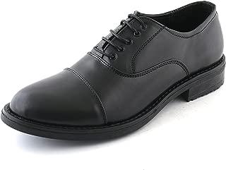 XY HUGO Oxford Black 5-Eyelet Police Shoe