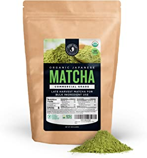 Jade Leaf - Organic Japanese Matcha Green Tea Powder, Commercial Grade - [250g Value Size]