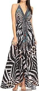 Sakkas Lizi Womens Maxi High-Low Halter Handkerchief Long Dress Beach Party
