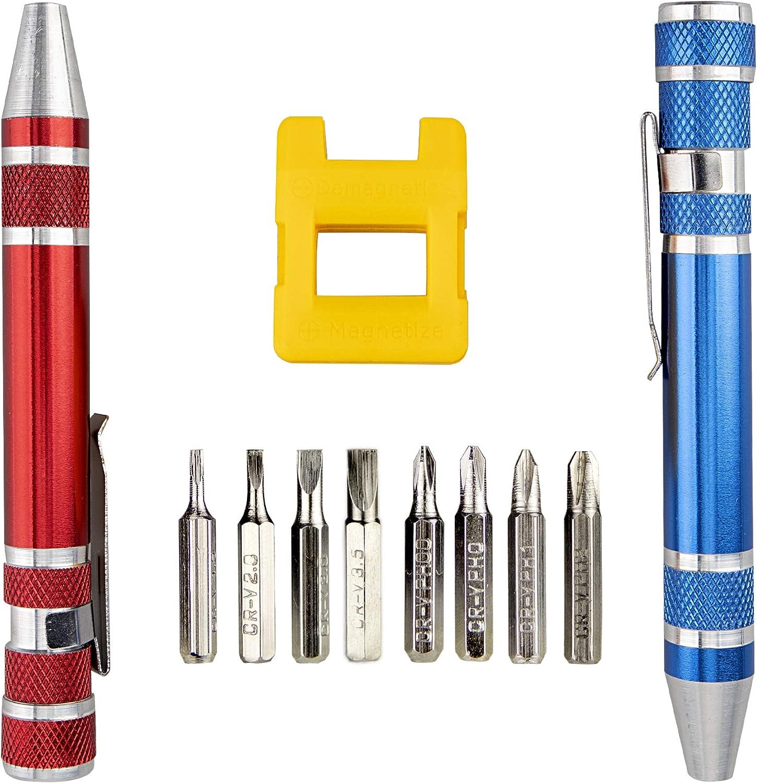 Swatom 8 in 1 Mini Screwdriver Set Pen Style Small Repair Tools