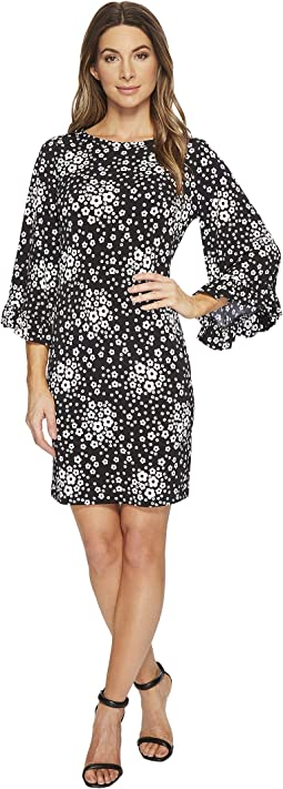 Mod Floral Flare Sleeve Dress