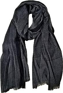 Men Scarves Twill Cotton-Linen Long Winter Scarf