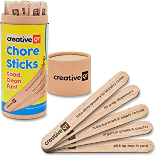 Chore Sticks for Kids - Make Chores a Game - Interactive Family Activity Combine Responsibility with Rewards - A Fun Alter...