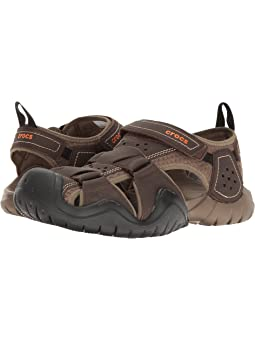 Mens crocs swiftwater leather fisherman