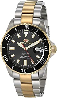 Seapro Men's Scuba 200 Automatic Stainless Steel Strap, Silver, 22 Casual Watch (Model: SP4326)