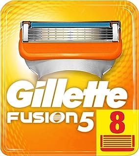 Gillette Fusion5 Maquinilla De Afeitar, 8 Recambios, Paquete Apto Para El Buzón De Correos, 5 Hojas Antifricción, Para Un Afeitado Imperceptible