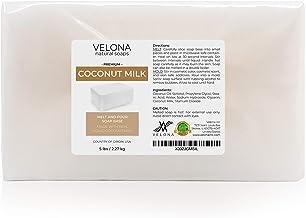 5 LB - Coconut Milk Glycerin Soap Base by Velona | SLS/SLES Free | Melt and Pour | Natural Bar for The Best Result for Soa...