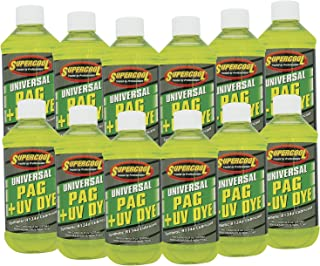 TSI Supercool 27880-12CP Universal Synthetic PAG Oil with U/V Dye, 8 oz, 12 Pack