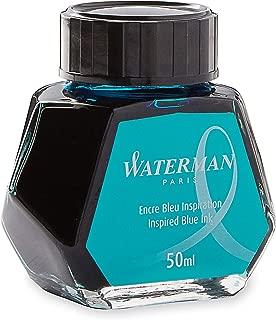 Waterman Fountain Pen Ink, Inspired Blue, 50ml Bottle