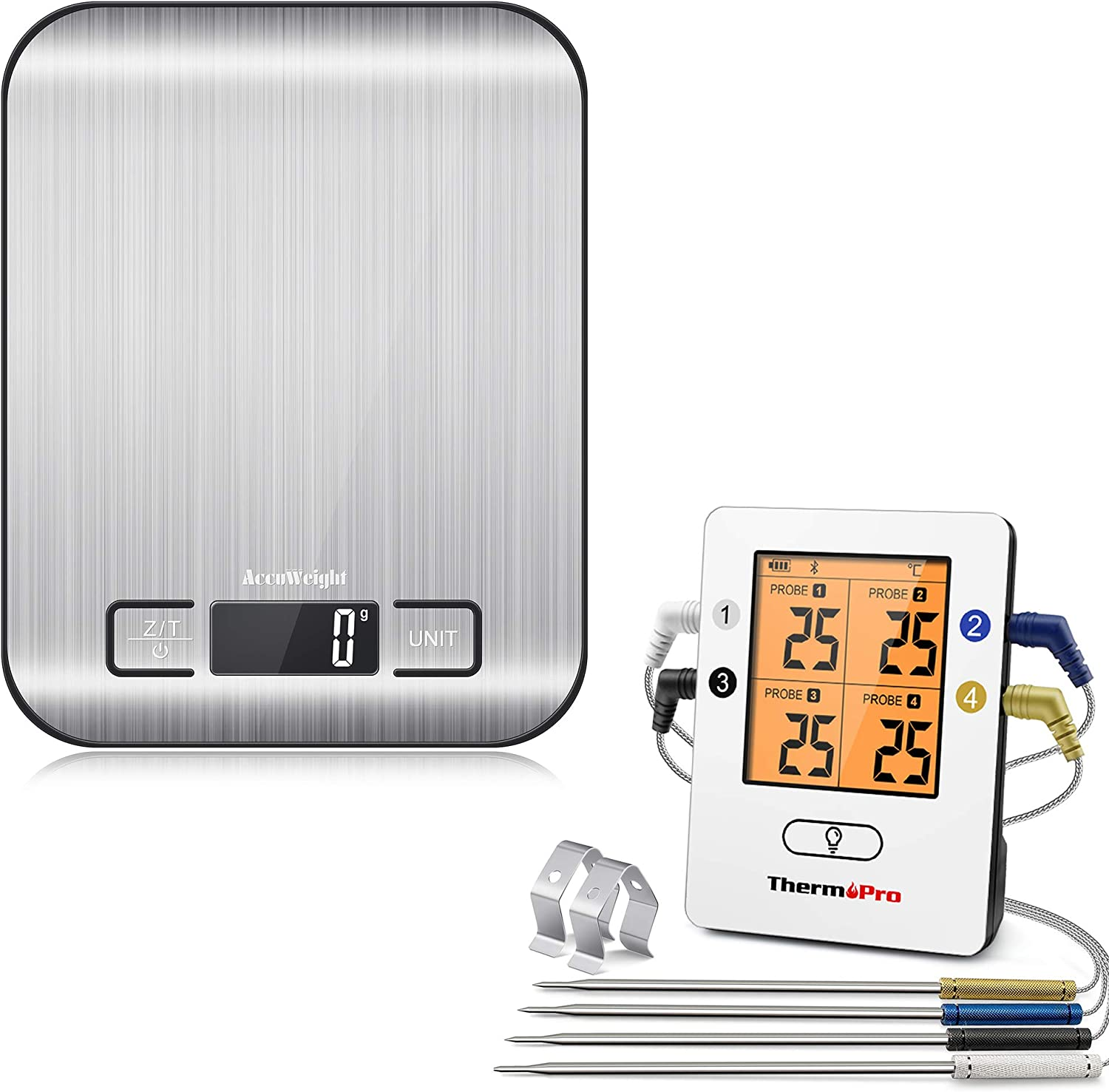 ThermoPro TP25 Wireless Direct stock discount Max 83% OFF Bluetooth +AccuWeight Thermometer Meat 2