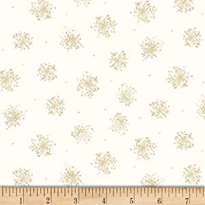 Maywood Studio English Countryside Queen Anne's Lace Fabric, Natural, Fabric By The Yard
