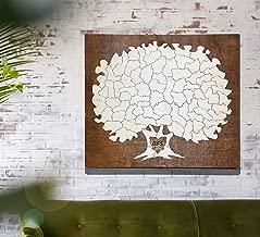 Bordered Elegant Tree Puzzle Guest Book Alternative   Wedding Guest Book