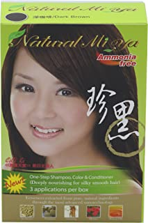 Natural Mi Ya Hair Color, Herbal Hair Dye & Hair Nutritions by Extracted Ginseng,Henna Hair Color Colorants, Permanent (1 ...