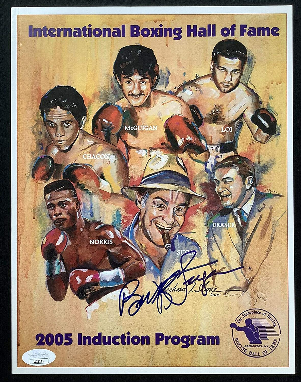 Mail order 2005 Boxing HOF Signed Program Write Sugar Autograph Bert Max 71% OFF