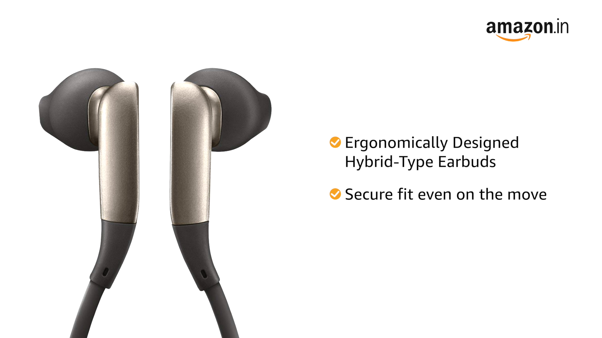 Samsung Original Level U Bluetooth Wireless in-Ear Headphones (Black and Sapphire)