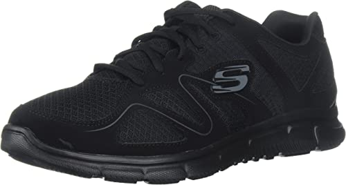 Skechers Hommes's Satisfaction Flash Point Trainer,noir,US 11 W