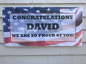 Personalized Welcome Home Military Banner - Custom Soldier, Navy, Army, Marines, Banner (2'x4')