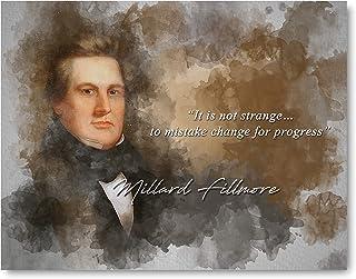 Mistaking Change Progress Millard Fillmore Inspirational Quote - 8 x 10 Unframed Print - Wall Art Bedrooms, Offices, Livin...