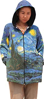 Raan Pah Muang Van Gogh The Starry Night Long Ladies Hood Jacket