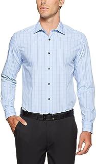 Oxford Men Islington Classic Long Sleeve Checked Shirt, Blue
