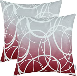 Best burgundy and gray throw pillows Reviews