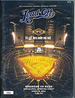 April 6 2001 Milwaukee Brewers vs Reds Yearbook Inaugural opening night