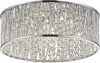Best chrome crystal flush mount ceiling light Reviews