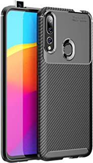 Huawei P Smart Z /Y9 Prime 2019 Case, Silicone Leather[Slim Thin] Flexible TPU Protective Case Shock Absorption Carbon Fiber Cover for Google Huawei P Smart Z /Y9 Prime 2019 Case Black 1