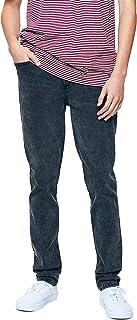 Men's Washed Black Stacked Skinny Jeans