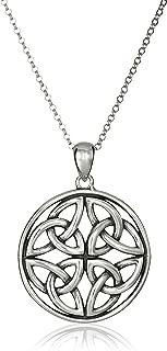 Sterling Silver Celtic Knot Pendant Necklace, 18