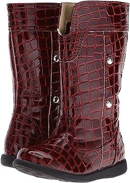 Burgundy Croc Patent