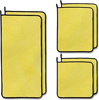 Microfiber Towels, Microfiber Cleaning Cloth for Cars 6 PCS 3 Different Sizes (11'', 15'', 23'') Multi-Purpose High Absorp...