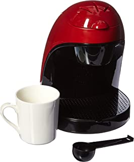 Brentwood Coffee Maker with Ceramic Mug, Single Serve, Red