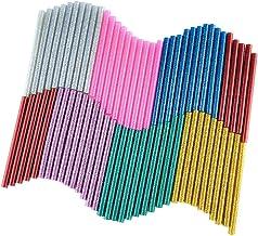 KUUQA 70 stuks glitter Hot Melt lijmpatronen hete lijmsticks lijm sticks universele lijmstiften voor doe-het-zelf kunst ha...