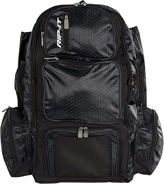 RIP-IT Womens Tournament Softball Backpack with Ventilated Cleat Pocket - Includes Padded Shoulder Straps, Durable J-Hooks, and Bat Sleeves